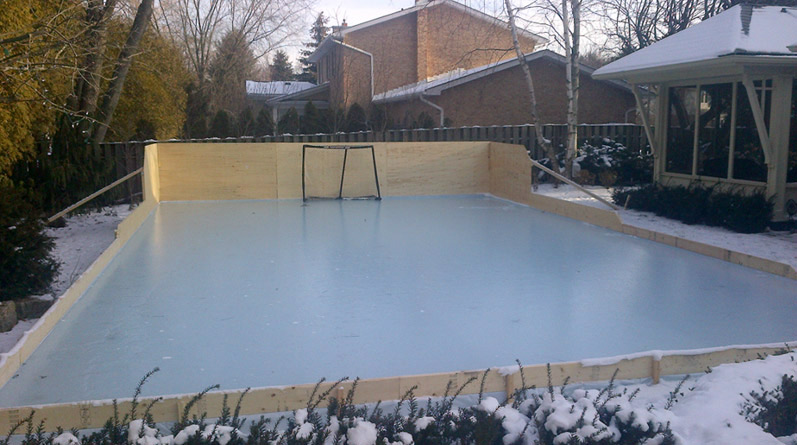 Backyard Rink Liner : Rink Liners and Backyard Skating Rink Tarps  How To Install