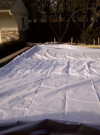 Rink Liners And Backyard Skating Rink Tarps How To Install - Backyard ice rink liners